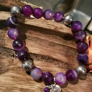 Jewelry - Amethyst & Sterling silver bracelet